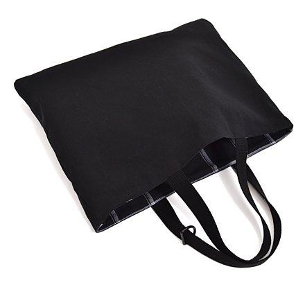 Kids Lektion Tasche von handgefertigten Sinn (reversible) Tartan schwarz N0195000 in Japan (Japan-Import) gemacht