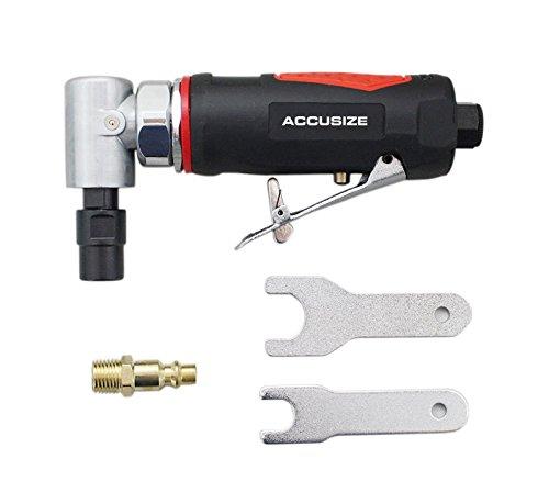 AccusizeTools - 1/4'' (6MM) Air Die Grinder with soft grip, (Soft Grip Air)