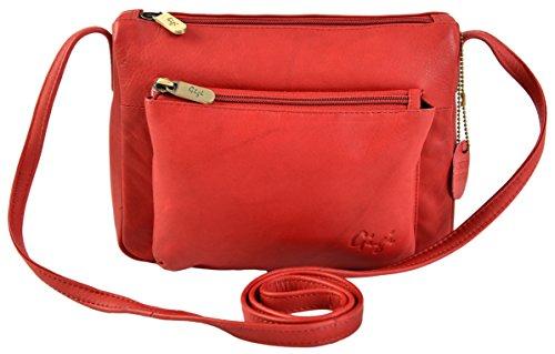 Leather Crossbody Small Shoulder Red Blue Navy Bag Handbag GIGI 16267 Othello w1I5xqE