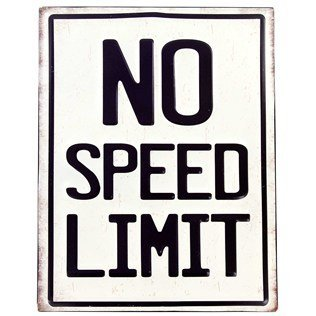 sed Tin Sign (Speed Tin Sign)