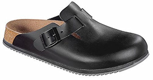 Birkenstock Unisex Boston Super Grip Clogs,Black,44 EU (11-11.5 N US Men / 13-13.5 N US Women) (Professional Birkenstock Clogs)