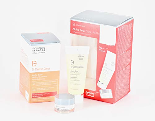 Dr. Dennis Gross Alpha Beta Clinic-At-Home - Extra Strength Peel, Cleansing Gel, Exfoliating Moisturizer