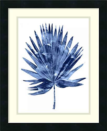 Framed Wall Art Print Indigo Palm IV by Melonie Miller 18.25 x 22.38