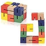 ArtCreativity Wooden Twist Cubes, Pack of