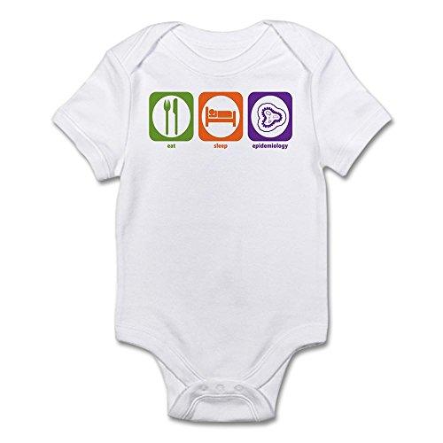 CafePress Eat Sleep Epidemiology - Cute Infant Bodysuit Baby Romper