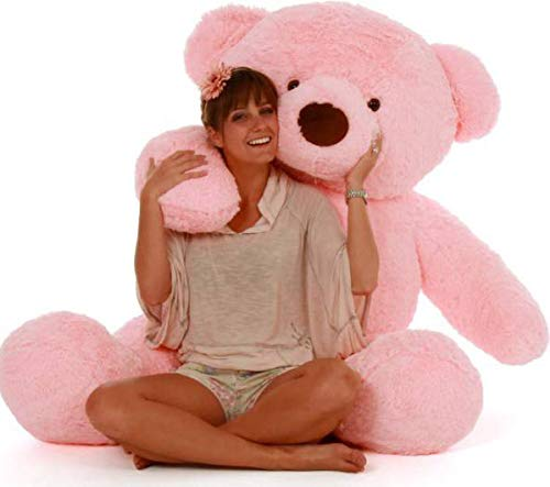 rss toys 3,feet stuffed huggable cute teddy bear birthday gifts girls   90cm    3feet  Pink