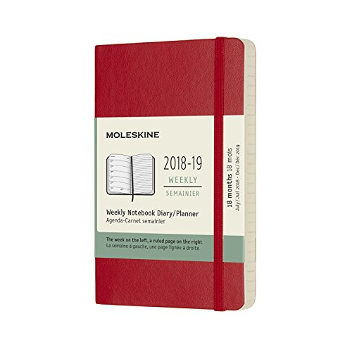 (Moleskine Classic 18 Month 2018-2019 Weekly Planner, Soft Cover, Pocket (3.5