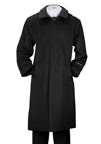 De Valoure Boys' Charcoal Gray Warm Winter Wool Long Dress Coat with Hood and Full Back Pleat Great for Holidays, Parties, Holiday Gift, All Formal events 8 by De Valoure (Image #3)
