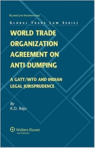 Buy world trade organization agreement on anti dumping a gattwto buy world trade organization agreement on anti dumping a gattwto and indian legal perspective global trade law series book online at low prices in india platinumwayz