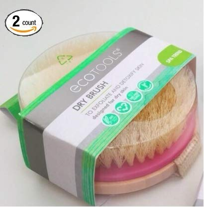 EcoTools Dry Body Brush - Inspired by SPA Dry Brushing Treatments, Use to Exfoliate and Detoxify, Improving Appearance and Leaving Skin Soft, Smooth and Glowing. - 2-PACK by EcoTools (Image #4)