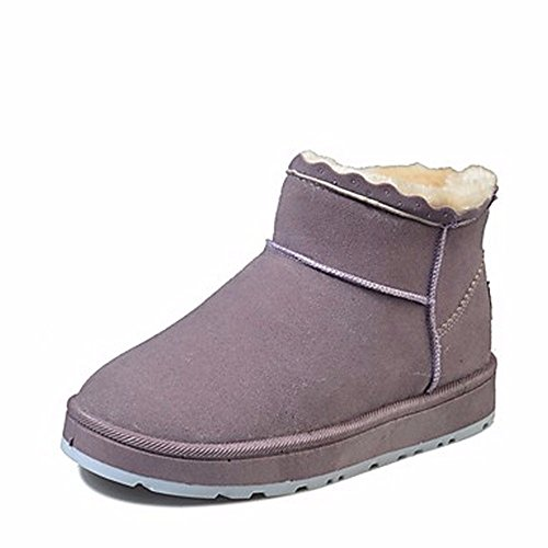 ZHUDJ Women'S Shoes Fall Winter Snow Boots Boots Flat Heel Round Toe For Casual Green Purple Gray Black Purple K7Zk9eAy