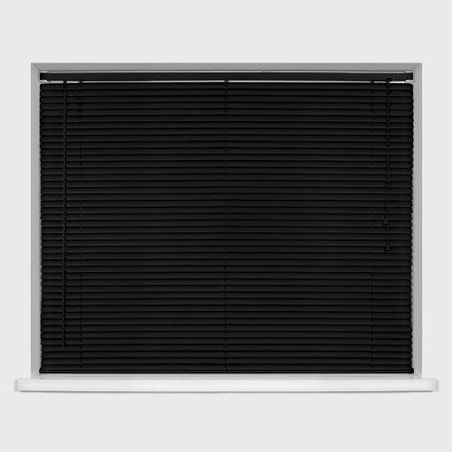 Homestyle Vinyl Slat Mini Venetian Blind Black 105cm x 150cm