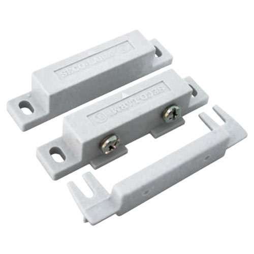 SECO-LARM SM-300Q/W Screw-Terminal Surface-Mount N.O. Magnetic Contacts, White, Surface-mount magnetic contacts, Screw mount using side tabs, Terminal cover ()