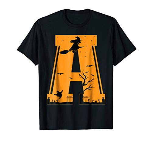 Letter A Halloween Costume Group Shirts -