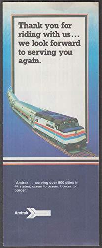 - Amtrak Railroad ticket & wrapper 1982 LAX-San Juan Capistrano-LAX