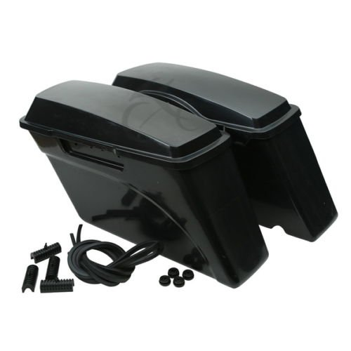 XMT-MOTO XMT-MOTO Hard Saddle Bag Saddlebags fits for 1993-2013 Harley Davidson all Touring Models including road glide, road king, ultra, street glide, electra glide(1 Pair,Unpainted Black) price tips cheap