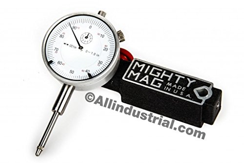 All Industrial Mighty MAG + 0-1 DIAL Indicator Combo Set Inspection Holder Magnetic Base KIT ()