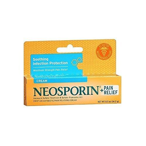 Maximum Strength Antibiotic (Neosporin Plus Pain Relief, Maximum Strength, First Aid Antibiotic Cream 0.5 oz by Neosporin)