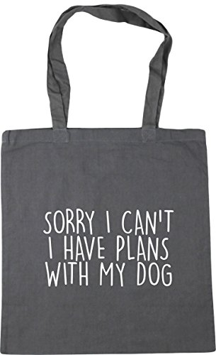 With Beach x38cm Have Sorry I 42cm My Bag I Shopping Tote 10 HippoWarehouse Gym litres Plans Grey Graphite Can't Dog 74YFFZq