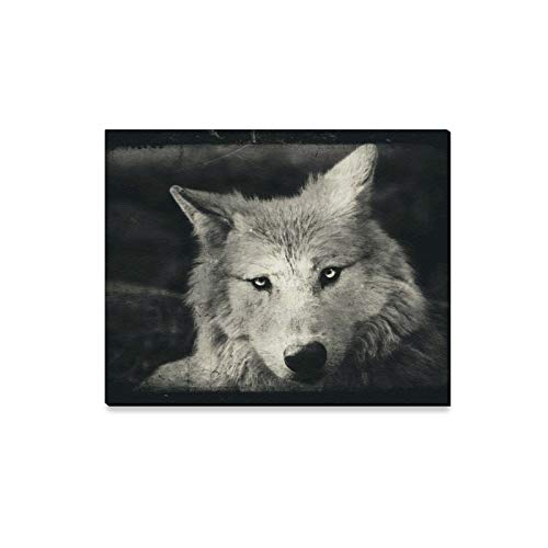 ENEVOTX Wall Art Painting Awesome Halloween Wallpaper with Mystical Wolf Prints On Canvas The Picture Landscape Pictures Oil for Home Modern Decoration Print Decor for Living Room for $<!--$24.00-->