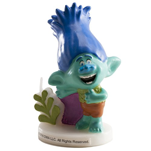 7,5 cm Bleu AEC Bougie D/écorative 3D Trolls Gar/çon BG22639