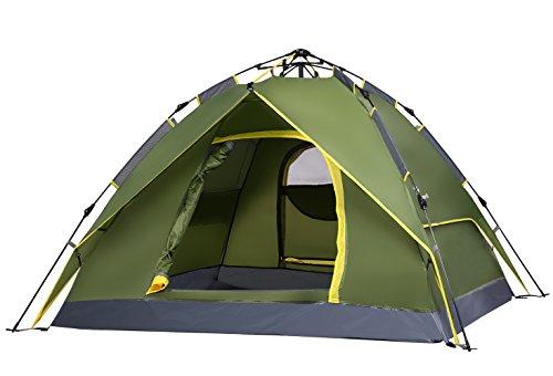 Jasonwell 3 in 1 Outdoor-Zelt für 2-3 Personen / Backpacker Zelt mit Tragetasche für Camping, Wandern, Outdoor, Festivals