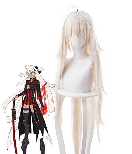 Telacos Fate/Grand Order FGO Souji Okita Alter Alterego Cosplay Wig Cosplay Costume Hair ()
