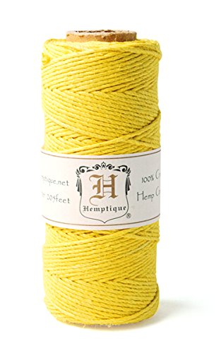 (Hemptique HS20-YEL Hemp 20-Pound Cord Spool, Yellow, 205-Feet)