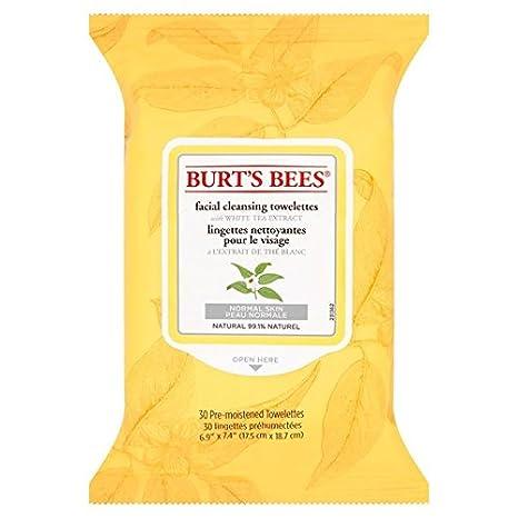 Las abejas de Burt faciales Toallitas limpiadoras con extracto de té blanco