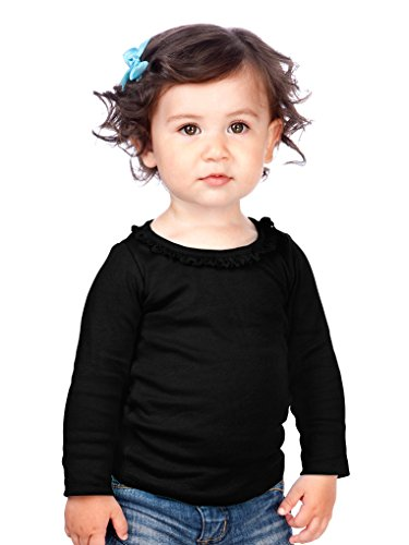 Kavio! Infants Sunflower Long Sleeve Top Black 24M (Toddler Hip T-shirts)