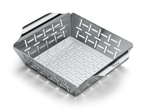 Weber Grill Pan - Weber 6481 Small Stainless Steel Vegetable Basket