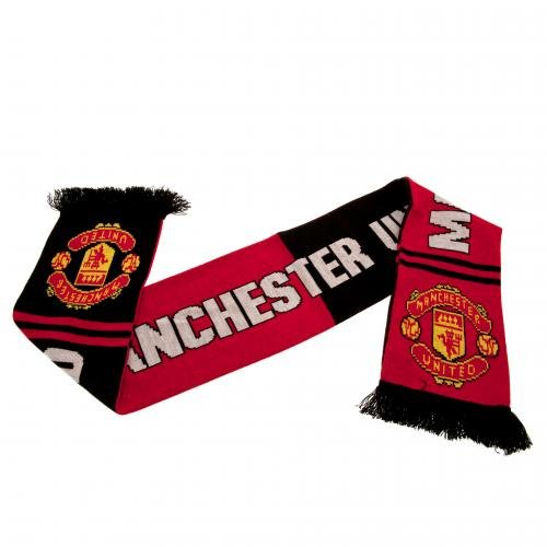 (Manchester United FC Authentic EPL Crest Scarf - UK)