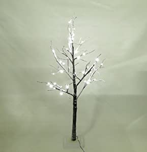 Artificial LED Snowy Twig Christmas Tree - 125cm, Brown & White ...