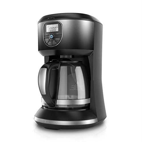 BLACK+DECKER CM4002B 12 Cup Automatic Programmable Coffeemaker, Ombre Black - smallkitchenideas.us