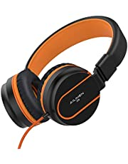 Ailihen I35 Foldable Headphones with Microphone and Adjustable Headband 3.5mm Cable Headsets for Cellphones Smartphones iPhone Laptop Computer Mp3/4