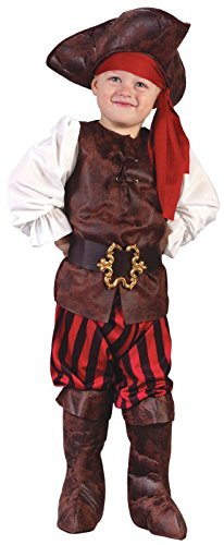 Fun World Toddler Pirate Captain Kids Halloween Costume 24mos-2T -