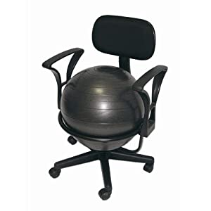 Aeromats Deluxe Fitness Ball Chair in Black