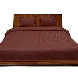 Algodón egipcio de ropa de cama 650hilos 30cm profundo bolsillo juego de sábanas con funda de almohada Extra UK solo ladrillo rojo rayas 100% algodón 650TC