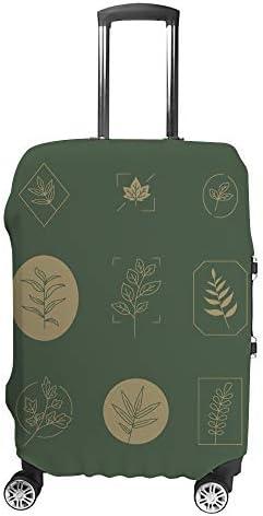 スーツケースカバー 葉セット 伸縮素材 キャリーバッグ お荷物カバ 保護 傷や汚れから守る ジッパー 水洗える 旅行 出張 S/M/L/XLサイズ
