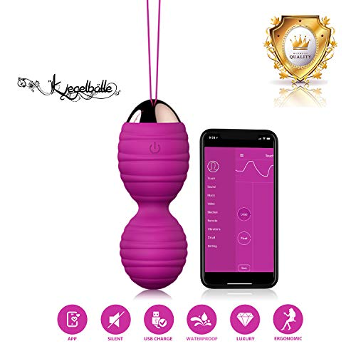 Kegel Balls Exercise with APP & Vibration,Smart Wearable Silent Kegel Ben Wa Balls for Women Tightening & Pelvic Floor Exercises for Beginners & Advanced