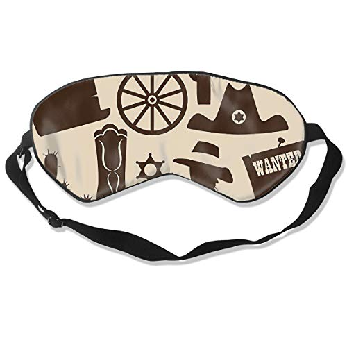 The Wild West Ranch Life Silk Sleep Eye Mask Flexible & Breathable Eyeshade With Adjustable Strap