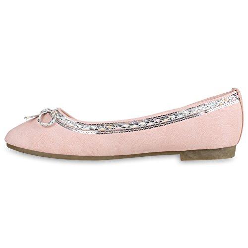 Mujer Bailarinas Stiefelparadies Rosa Stiefelparadies Bailarinas EqvUntOxw