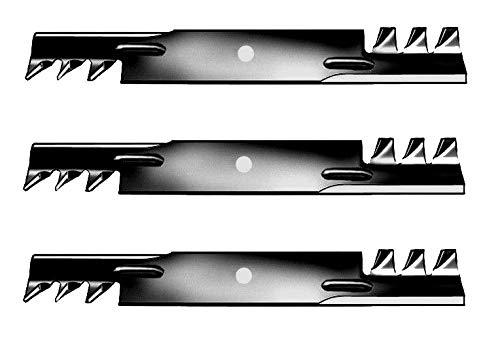 Gator Mulching Blades 3 pcs 52'' Deck Rotary 785436 for Hustler Raptor & Raptor Fastrak Hustler Z Mini Z Super Mini Z Super Z