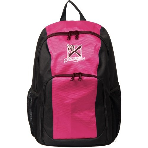 KR Strikeforce Single Bowling Ball Backpack, Black/Pink