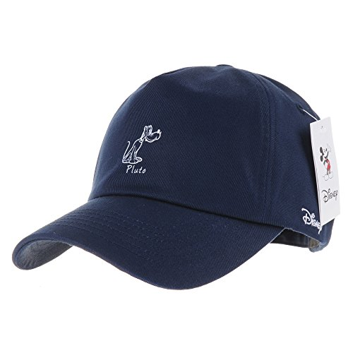 Disney WITHMOONS Pluto The Pup Baseball Cap Embroidery Hat CR1335 (Navy)