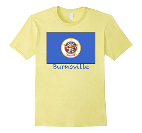 Mens Souvenir Burnsville, Minnesota T-Shirt Small - Minnesota Burnsville