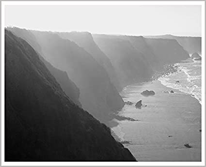 Amazoncom Big Sur Black And White Photography California Beach