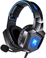 RUNMUS Gaming Headset PS4 Headset with 7.1 Surround Sound, Xbox One Headset w/ Noise Canceling Microphone & LED Light...