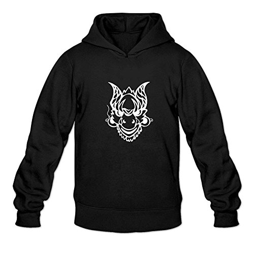Mcczox Chinese drama mask tour fashion Men's Hoodie Sweatshirt Black ()