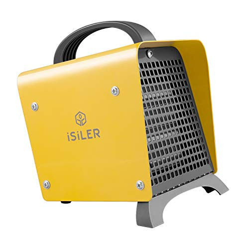 iSiLER Space Heater, 1500W Portable Indoor Heater, Ceramic Space Heater with Adjustable Thermostat & Overheat Protection, Hot Cool Fan Electric Heater for Home Office Garage with ETL Certified (1500 Ceramic Heater)